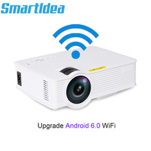 S90 S90wifi (Android 6.0) Mini LED Home Cinema Projector WiFi 1800lumens Multimedia LCD Proyector 3D Beamer Support AC3 HD 1080P(China)