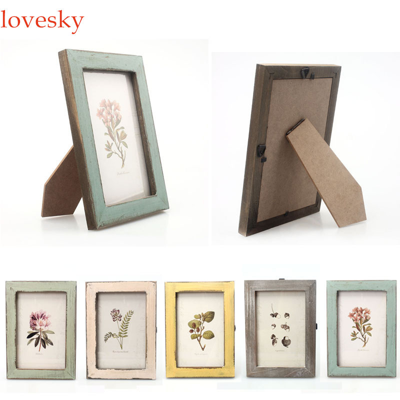 taotown new arrival wooden photo frame vintage photo frame home decor wooden wedding casamento pictures frames