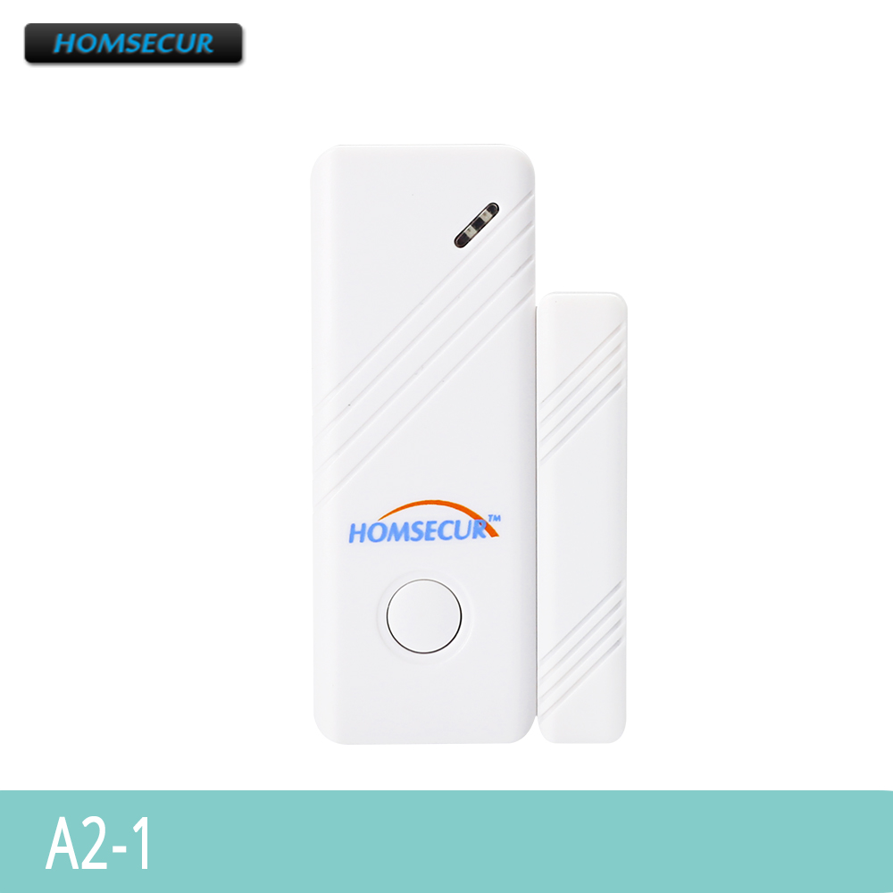 HOMSECUR Wireless Door/Window Sensor A2-1 For Our 433Mhz 4G/3G/GSM/PSTN Alarm System