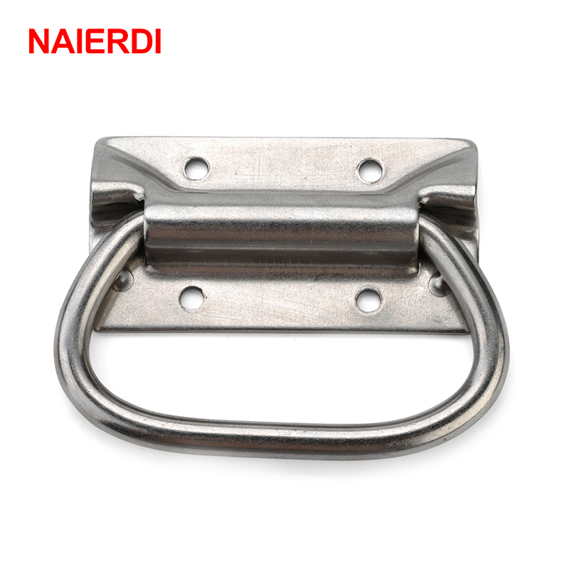 NAIERDI-J204 Cabinet Handle Suitcase Knob Tool Box Stainless Steel Handles Kitchen Drawer Pull Bear 250KG For Furniture Hardware 4pcs naierdi c serie hinge stainless steel door hydraulic hinges damper buffer soft close for cabinet kitchen furniture hardware