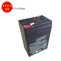 New 6v 4.5ah storage battery 70x45x100mm agm battery sealed lead acid battery rechargeable deep cycle toy car battery 4.5ah 4ah