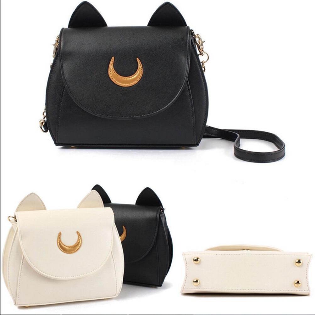 8c89cf0c46301d New Women Ladies Handbag Black White Luna Moon Leather Shoulder ...