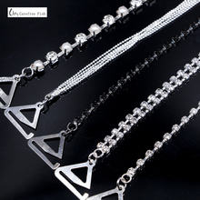 2c24ae771f1e7 Carefree Fish New Silver Plated Metallic Sexy Rhinestone Bra Straps For  Women Elegant Crystal Bra Shoulder