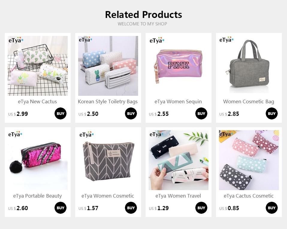605f1195e6dc eTya Women Small Cosmetic Bag Fashion Cactus Dot Print Makeup Bag Quality  Canvas Cute Pencil Case Organizer Make Up Beauty Bags #87341