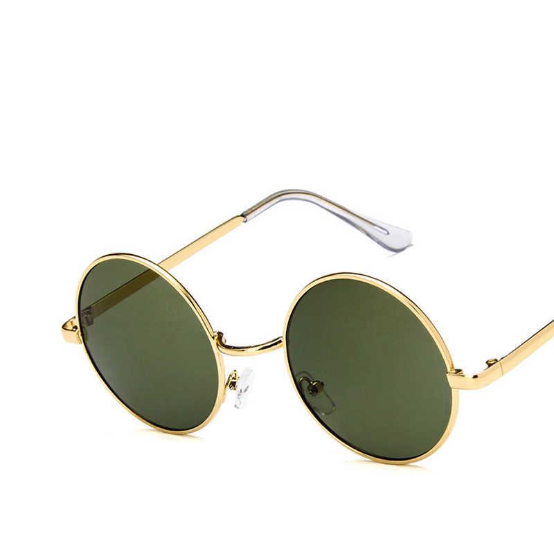 7f181fe72 ... Fashion sunglass Round Sunglasses Women Men Classic Brand Designer  Metal Frame Ladies Clear Lens Eye Glasses ...