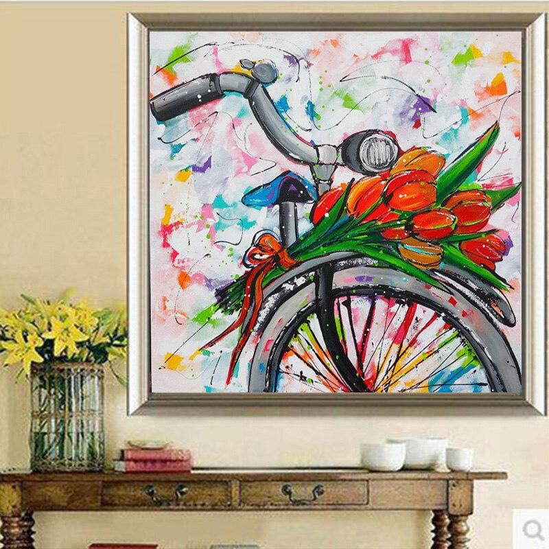 """Новый Полный Круглый Алмаз DIY живопись """"красочный мультфильм велосипеды"""" Diamond Вышивка вышивки крестом горный хрусталь мозаика живопись R395"""