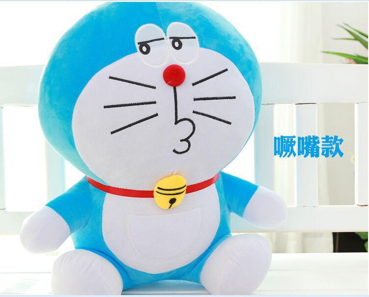 middle plush blue doraemon toy stuffed cute kissing doraemon doll gift about 50cm 0023
