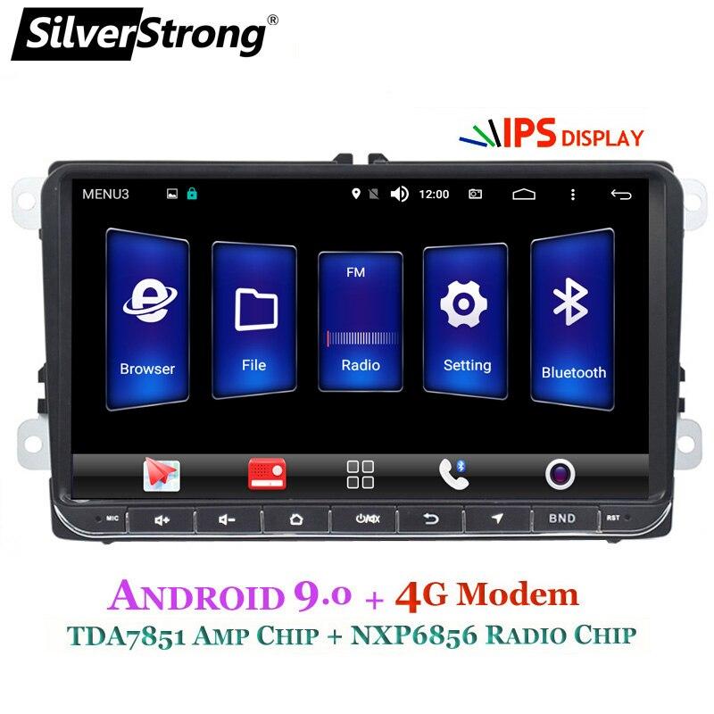 SilverStrong Android9 0 IPS 4G Modem Car 2Din Radio GPS for VolksWagen Tiguan Golf MK6 MK5