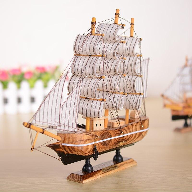 Modelo barco marco polo barco de madera modelo barco velero 59cm Antik-estilo
