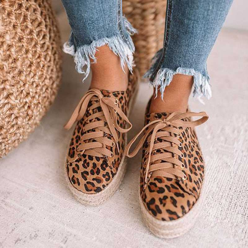 Litthing Da Báo Xuân Nữ Giày Nữ Cột Dây Giày Vải Giày Đế Giày Sneaker Nữ Thoải Mái Đế Phẳng Zapatos De Mujer