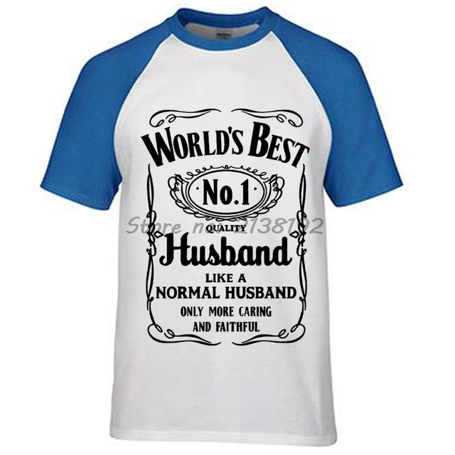 Worlds Best Husband T-shirt men Gift For Him fashion summer Birthday  Anniversary Mens brand