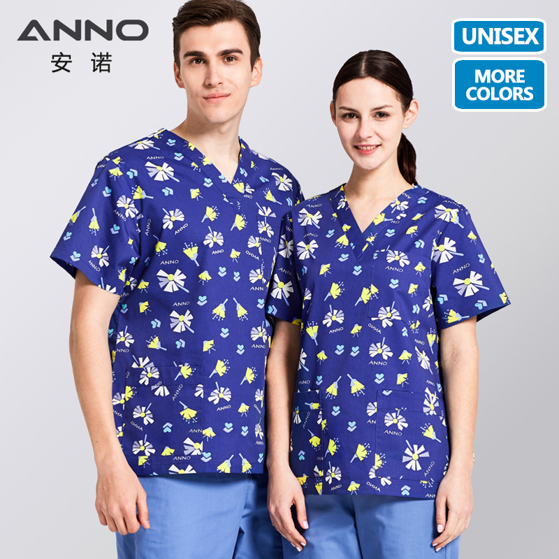 ANNO Hospital Scrubs Set Nursing Uniform For Male Female Medical Supplies Dental Clinic Nurse Scrubs Women Medical Uniforms