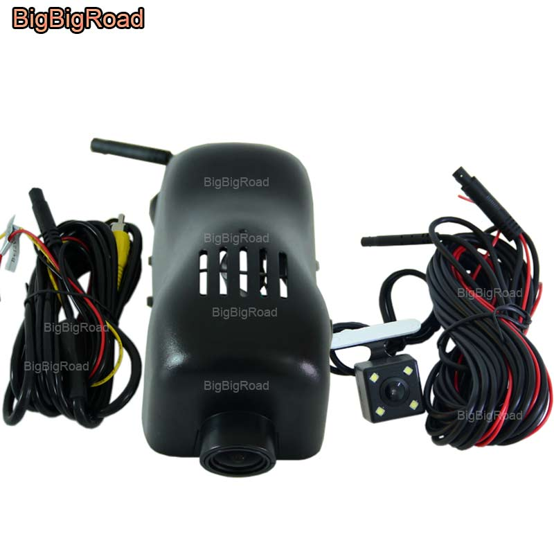 BigBigRoad For Volkswagen touareg 2011 2012 2013 2014 2015 2016 2017 Car wifi DVR Video Recorder black box Dash Cam Dual cameras bigbigroad for ford mondeo 2015 high configuration car wifi dvr video recorder dash cam car black box keep car original style