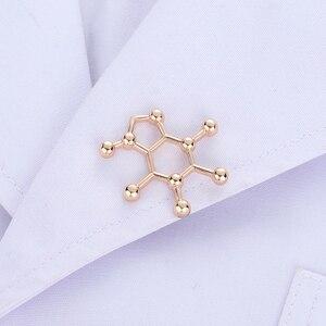 Брошь в форме молекулы кофеина, ювелирное изделие золотого цвета, брошь в форме рюкзака с лацканами, бижутерия хиджаб, подарочные аксессуар...