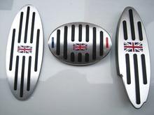 Alumínio AT pedais Apoio Para Os Pés do Pedal Da Embreagem Do Freio de Gás Capa Para BMW Mini Cooper JCW S R55 R56 R60 R61 F54 F55 f56 F60 Acessórios Do Carro