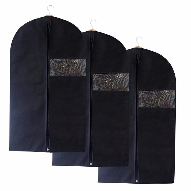 Nosii 60x100cm 3pcs Garment Dustproof Cover Suit Storage Bag Travel Jacket Coat Clothes Protector With Zipper