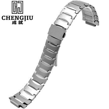 Tungsten Steel Strap Men Watch Strap For Rado 13 21mm Silver Watches Band Deployment Buckle Metal Bracelets Belt Montre Maculino часы rado true r27654152