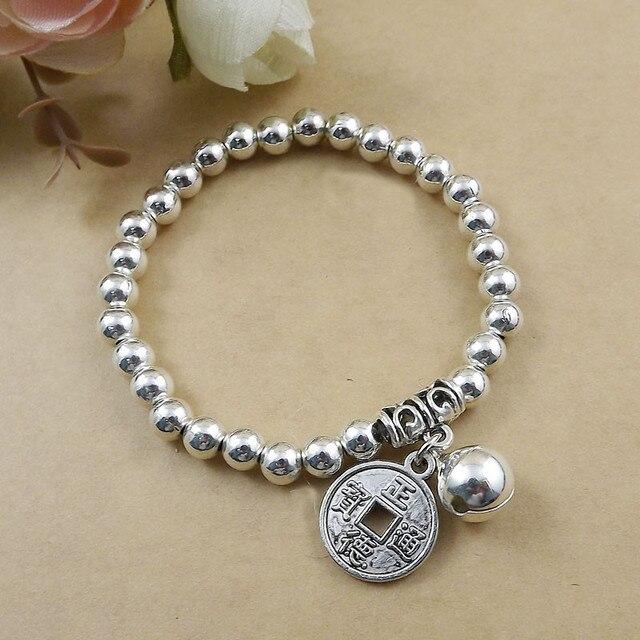 Modeschmuck silber  Aliexpress.com : Chinesische Münze Charme Silber Armband ...