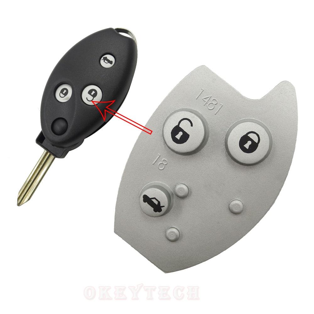 Новый стиль OkeyTech для Citroen C2 C3 C4 C5 C6 Picasso Berlingo, 3 кнопки, пульт дистанционного управления, откидной складной чехол для ремонта