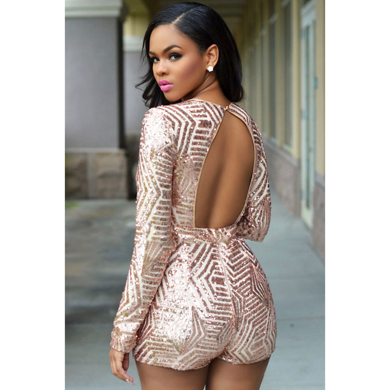 dce62934ca FGirl Womens Playsuits 2017 Rose Black Gold Sequin Playsuit Sexy Body Women  Rompers Playsuit FG10699-in Rompers from Women s Clothing on Aliexpress.com  ...