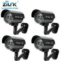 Dummy Fake 4pcs Bullet Camera Outdoor Indoor Security CCTV Surveillance Waterproof Camera Flashing Red LED Free