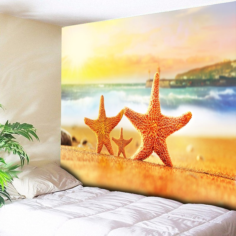 Carpets & Rugs Home & Garden Have An Inquiring Mind Funny Big Starfish Orange Tapestry Beach Wall Hanging Sea Tapestries Living Room Bedroom Decorative Wall Carpets Couch Blanket