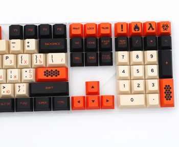 カーボン色 125/172 キー染料の昇華ロシア PBT 桜プロファイル MX スイッチメカニカルキーボード用キーキャップ
