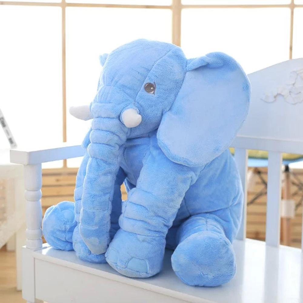 VIP LINK 40cm/60cm (40cm+60) Height Large Plush Elephant Doll Toy Kids Sleeping Back Cushion Cute Stuffed Elephant Baby