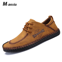 M anxiu Men Full Handtailor Vintage Sneakers Huarache Moccasins Non slip Super Hot Flats Black Plus Sizes 46 casual Shoes 2018