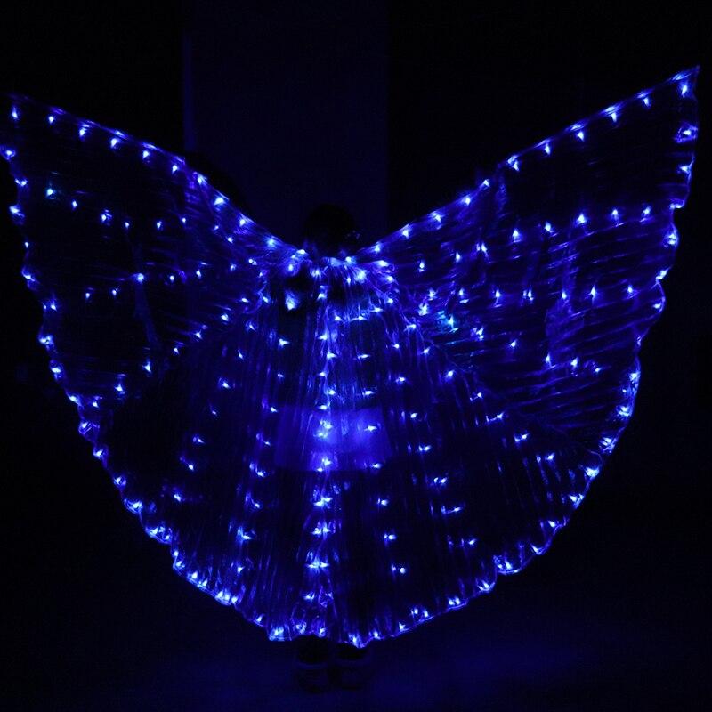 Livraison gratuite Hot-vente bellydance LED Isis ailes belle danse orientale accessoire LED ailes Sexy scène spectacle Prop ailes 7 couleur