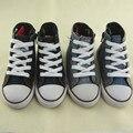2016 Nueva Primavera Niños Firstwalker Deportes de Moda del Top del Alto de Lona Del Bebé Niños Niñas Zapatillas de deporte Los Niños de la Mezclilla Zapatos de Lona