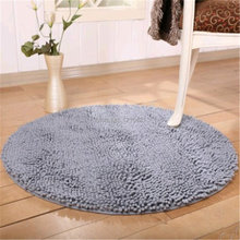 Free shipping 60x60cm Super Soft Comfortable Round Nonslip Microfiber Chenille Floor Mat Bedroom Area Rug Carpet Approx