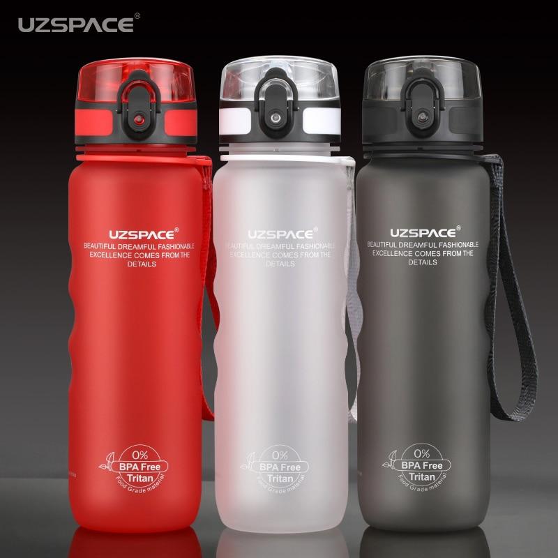 UZSPACE Sports Water Bottles Direct Drink&Straw My Bottle for Water 500ml Portable Leakproof Plastic Drinkware Tritan BPA Free Бутылка