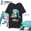 New vocaloid Hatsune Miku T-shirt Japan Anime cosplay T shirt Fashion Polyester Summer Hot Tees