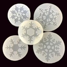 Aouke white snowflake gum crystal mold DIY glue mold uv plastic mold mirror snowflake mold(China)