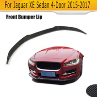 Carbon Fiber Front Bumper Chin Lip Spoiler for Jaguar XE Sedan 4 Door 2015 2016 2017 Car Tuning Parts