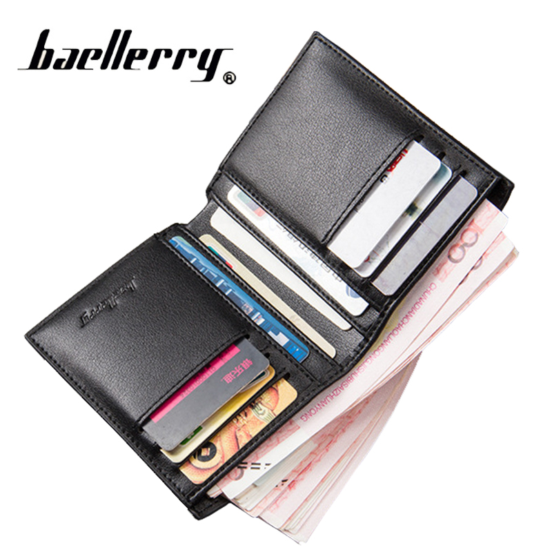 2017 New Minimalist Vintage Designer PU Leather Mens Slim Mini Wallet Male Thin Small Purse Money Clip Credit Card Dollar Price