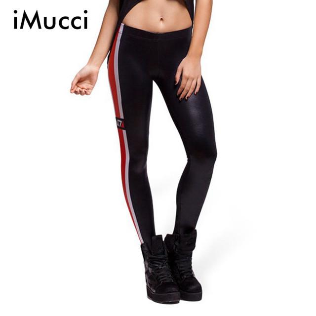 New Adventure Time Black Red Patchwork Leggings De Fitness Mulheres 2016 Moda Mulheres Digital Print Calças Ocasional Das Senhoras Roupas de Marca