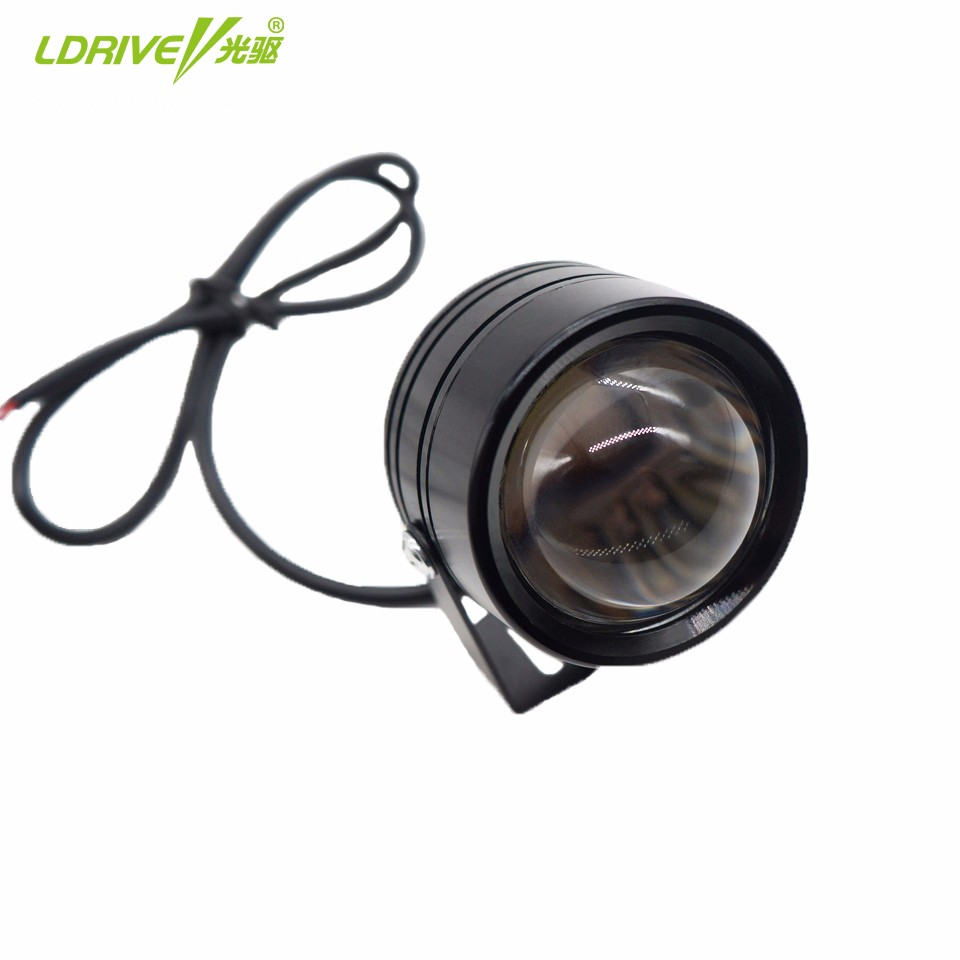 12V LED Car Fog Light Lamp 5W Round Flashing Headlight Spotlight For Car Motorcycle Waterproof IP67 Daytime Running Lights White car motorcycle spotlight 12v 30w cree u3 inside led projector with bracket bigger lens lights 6500k ip68 daytime light c115c