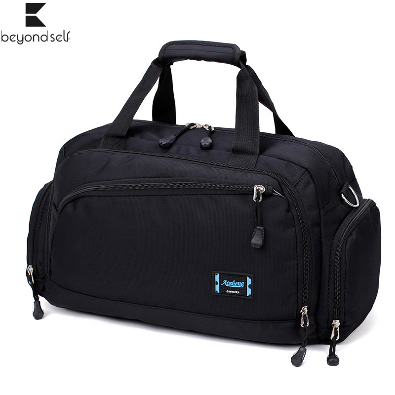 Gym Bags Men Sports Fitness Pack Cylinder One Shoulder Sport Bag Women's Handbags Travel Bags Nylon Waterproof Handbag Package(China)