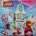 316 unids Castillo de Hielo Modelo Building Blocks Amigos de Princesa Elsa Anna Olaf Princesa Castillo Regalos Juguetes Compatible Lepine Amigos