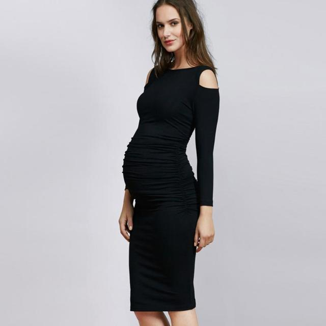 Strapless Maternity Dress