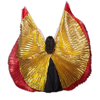 2018 Isis Wings Costume Belly Dance Adult Kids Wings of Isis Belly Dance one piece 360 Isis Wings and sticks Multi Color