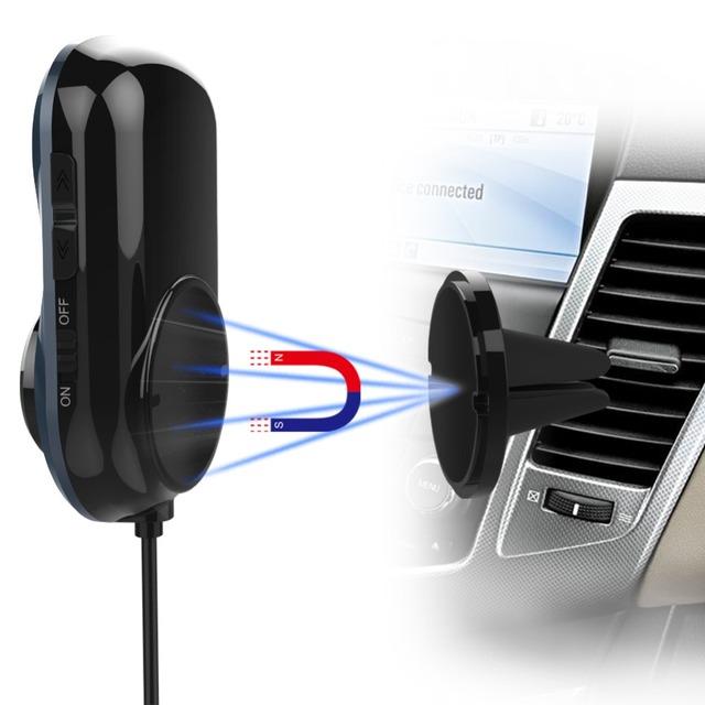 Nulaxy Bluetooth FM Transmitter Audio Car Mp3 Player Wireless In-Car FM Modulator Handsfree Bluetooth Car Kit with LCD Display