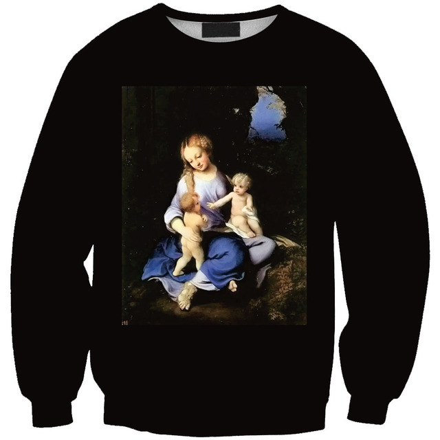 New style 3D hoodies Poor Family digital print crewneck sweatshirt men women  unisex sweats tops casual outerwear 07444dd7ea