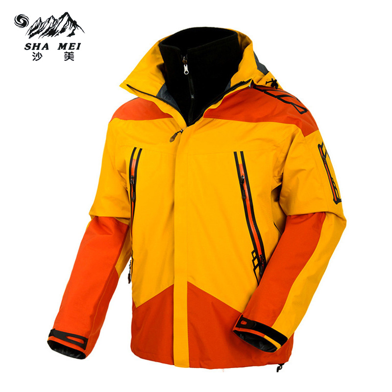 2017 Men Waterproof Windproof Anti-UV Fishing Ski Hiking Coats Spring Winter Outdoor Tech Fleece Softshell Two- Pieces Jacket free shipping 2016 laynos men spring autumn winter outdoor waterproof ski wear triad velvet two piece fleece jackets 150a263b