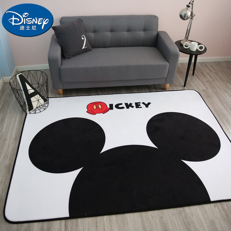 White Black Mickey Rug Children Baby Crawling Game Mat Carpet Indoor Cartoon Soft Four Season Children Mat Blanket Gift