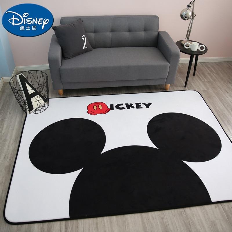 White Black Mickey Rug Children Baby Crawling Game Mat Carpet Indoor Cartoon Soft Four Season Children Mat Blanket Gift