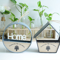 Cerami Hanging WALL Flower Pot To Decorate Balcony Mini Garden Pot Planter Box Container Ornament Metal