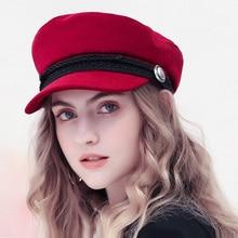 Winter Baseball Cap Women French Style Wool Baker's Boy Hat